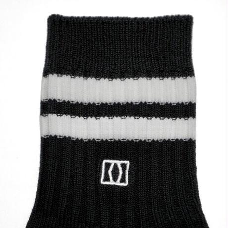 MIKAKUS SHORTLINE BLACK SOCKS S5