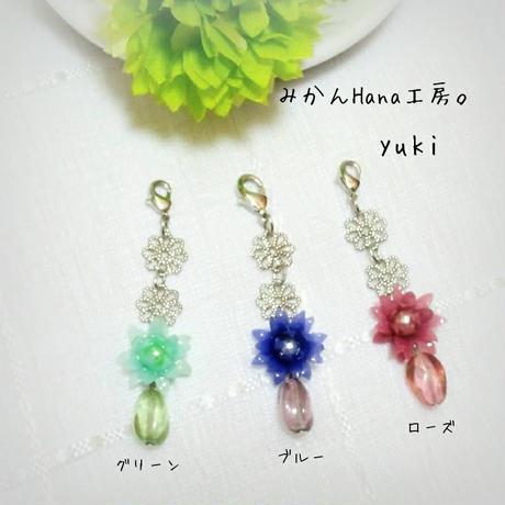 yuki初出店特別価格♡【yk502】小花が揺れるマスクチャーム(パピエル)