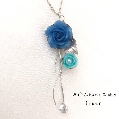 【fl 005】 ゆめブーケの雫 ネックレス(フラージュ)