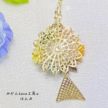 【hm401】小さな七色の花束のネックレス【美乃花】