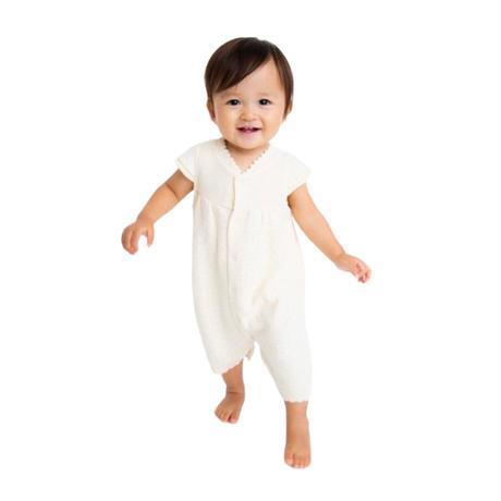 pompkinsbaby【ブラウン、ナチュラル】【定番】【オーガニックコットン】オーガニック重ね織りガーゼスリーパー<ベビー・キッズ>