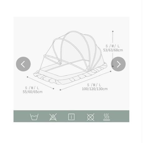 ベビー蚊帳 ワンタッチ 蚊よけ 折り畳み式 デング熱防止 赤ちゃん 出産準備 プレゼント