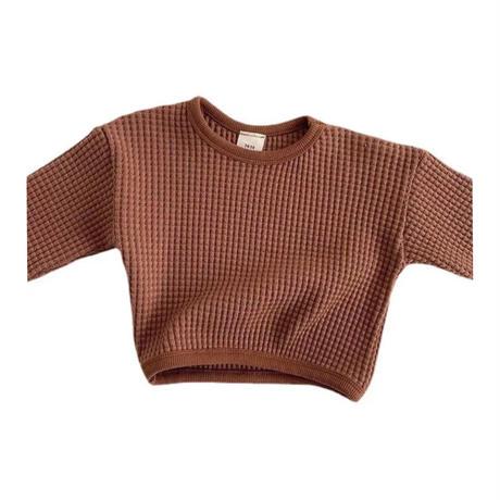 男の子と女の子のためのラウンドネックの長袖セーター,子供のための秋の服