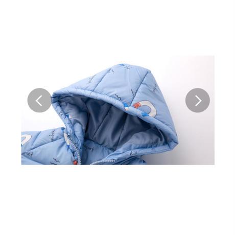 【ベビー・キッズ】【サイズ73cmから100cm】ベビーコート フード付き 中綿コート カジュアル