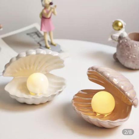 韓国で大人気お子さんのお部屋に貝殻ライト