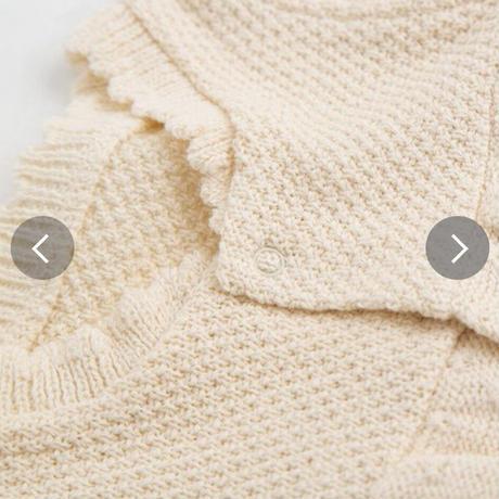 pompkinsbaby【ナチュラル、ブラウン】【定番】【オーガニックコットン】オーガニックニット ミニ丈2WAYドレス