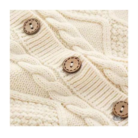 【0から24ヶ月】| ベビーロンパースニット秋冬長袖男児ガールズオーバージャンプスーツロンパース および ジャンプスーツワンピース子供のセーター