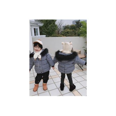 【新作】サイズ90cmから130cm子供服 ダウンジャケット チェック キッズ カワイイ 秋 冬 カジュアル