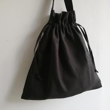 リネンショルダーバッグ  Black