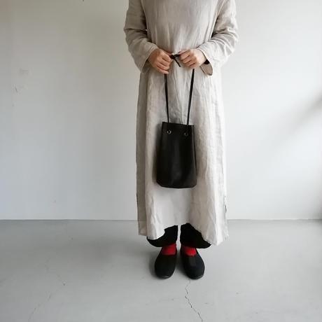 リネン巾着バッグ Gray