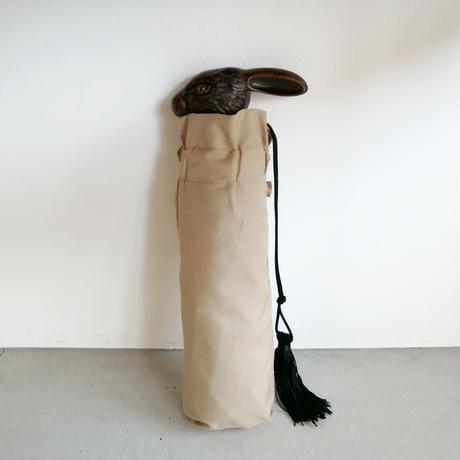 GUY DE JEAN Folding Umbrella beige