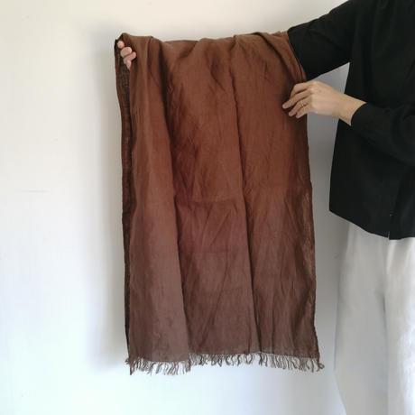 fog linen work スカーフ  brown