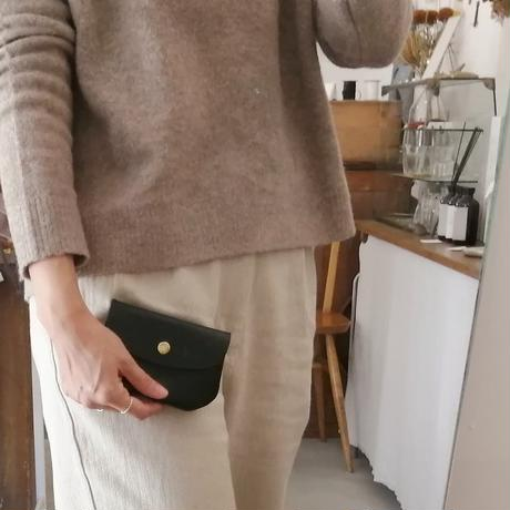 FAUCON Leather Wallte ブラック