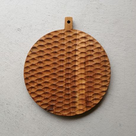 チーク カッティングボード 円形