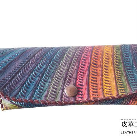 メガネケース レインボー 紫【12MC-RB-PP】