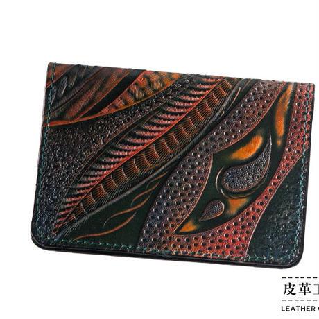 カード・名刺入れ 幾何学 緑【11CH-KI-GN】