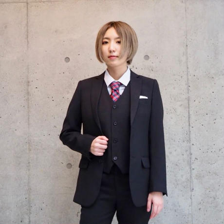 ブラック3ピーススーツ