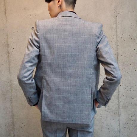 グレンチェック3ピーススーツ