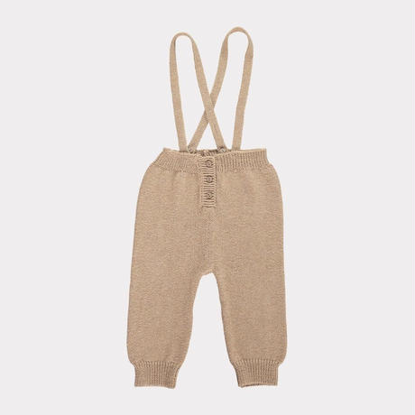 【happyology】Jay Knitted Dungarees, Sand