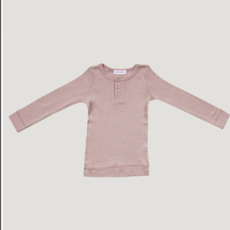 【Jamiekay】original cotton modal henley - rosy