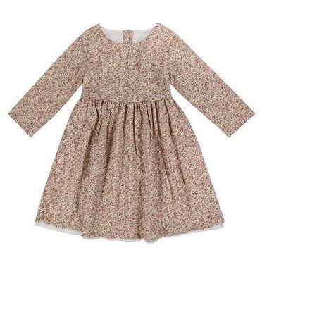 残り1【little cotton clothes】Grace dress pink floral