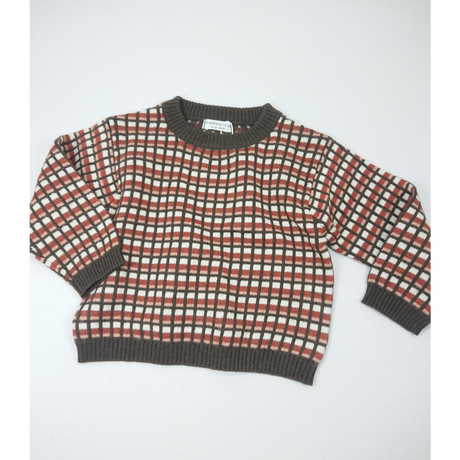 【happyology】Cleo knit top , coca