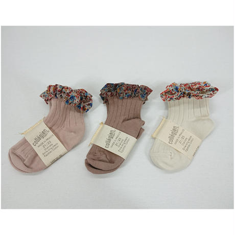 【collegien】liberty ruffle ankle socks