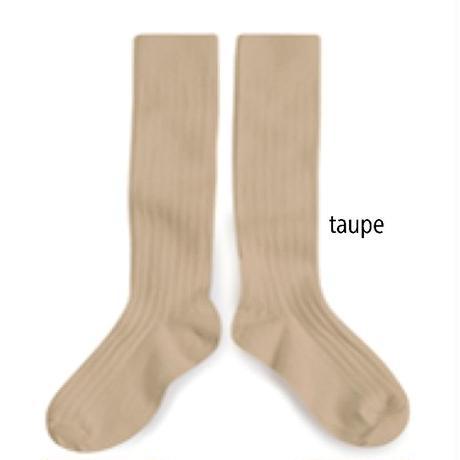【collegien】rib high socks