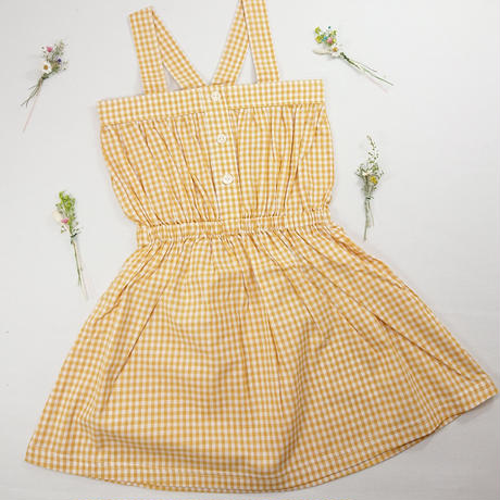 【happyology】Elara dress , yellow plaid