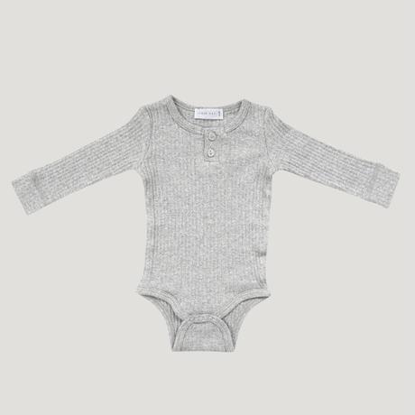 【Jamie Kay 】Original Cotton Modal Bodysuit - Light Grey Marle