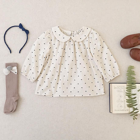 【SOOR PLOOM】Sparrow Blouse, Swiss Dot