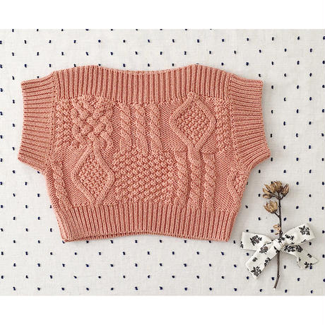 【SOOR PLOOM】Margot Sweater Vest, Peony