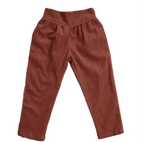 【 little cotton clothes 】 Aria trousers -clay corduroy