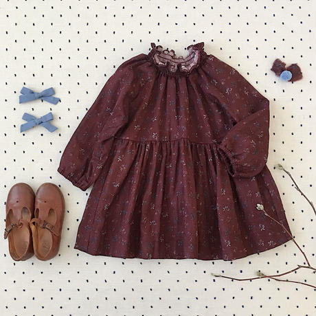 【SOOR PLOOM】Antoinette Dress, Prairie Print, Beetroot