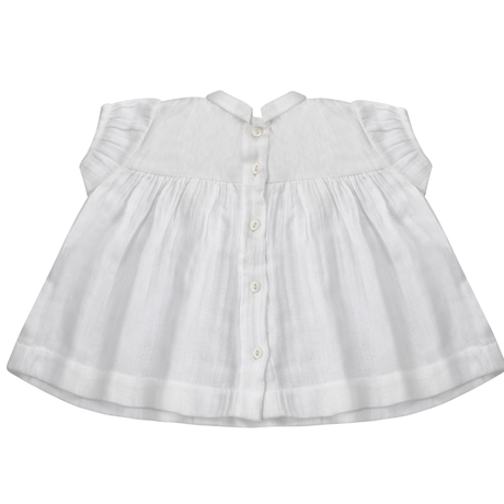 【little cotton clothes】 JUNO BLOUSE – WHITE TEXTURED COTTON