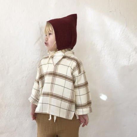 【Liilu】Quilted pixie bonnet- berry red
