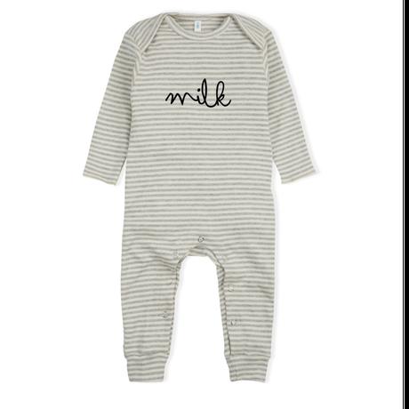 残り1【organic zoo】Stripy MILK Playsuit
