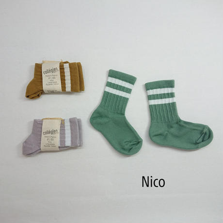 【collegien】Nico sport socks