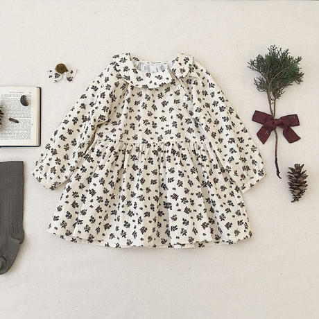 【SOOR PLOOM】Faye Dress, Prairie Print, Milkweed