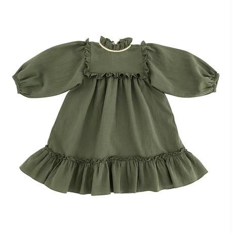 【Liilu】liana dress / floral , olive , check , misty rose