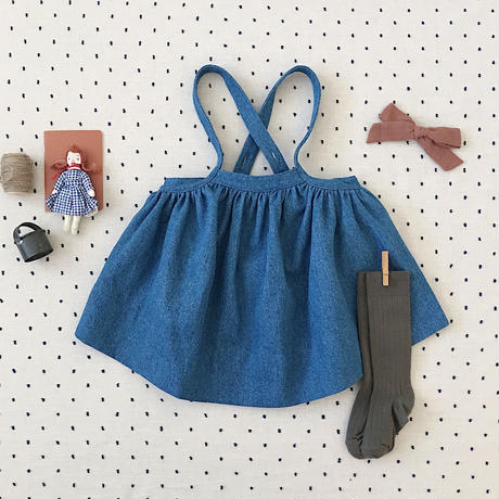 【SOOR PLOOM】Eloise Pinafore, Denim