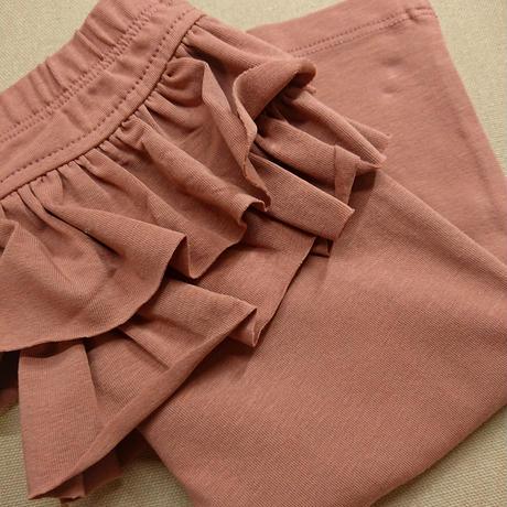 【Julie dausel】Leggings with 2 ruffles – Sofie – dark rose
