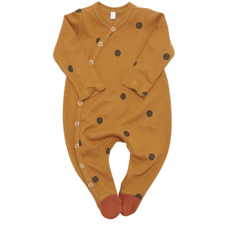 【organiczoo】Spice Dots Suit with contrast feet