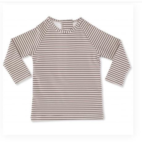 【kongessloejd】SOLEIL BOYS UV L/S TEE - STRIPED BORDEAUX/NATURE