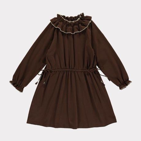 【happyology】Birdie Organic Cotton Dress, Cocoa