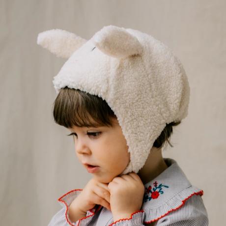 【happyology】Bennie hat -Cinamon . white