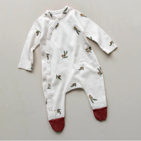 【organic zoo】Olive Garden Oat Suit with contrast feet