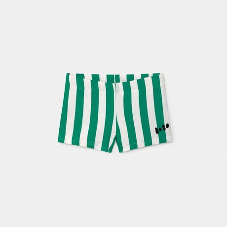 【BOBO SHOSES】Green Striped Swim Boxer