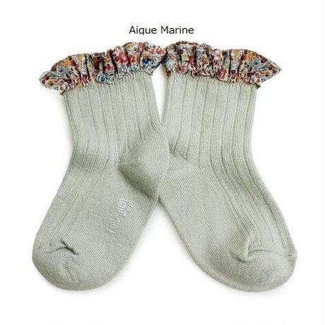 【collegien】liberty ruffle ankle socks