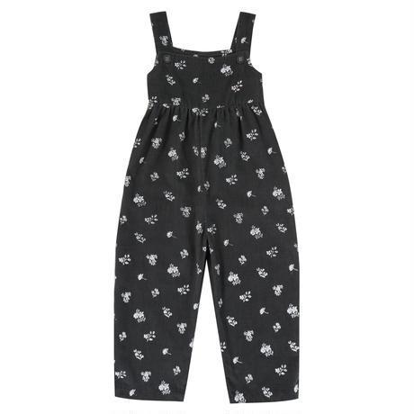 【little cotton clothes】  Margo dungarees charcoal floral needle cord